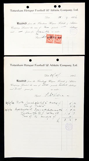 A group of seven Tottenham Hotspur Football & Athletic Company Ltd acc