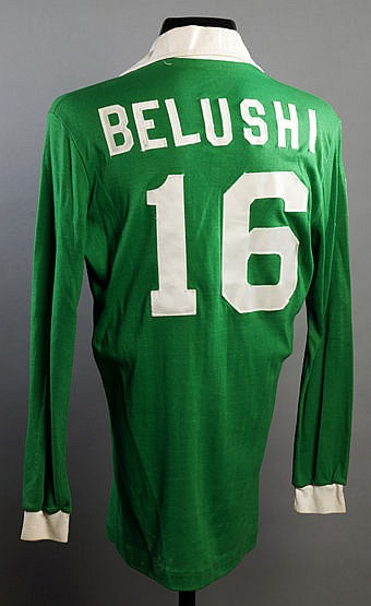 Commemorative Cosmos shirt made for the actor John Belushi when attend