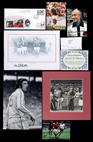 A collection of 1966 World Cup autographs,  comprising a folder with s