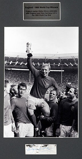 A group of four framed 1966 World Cup signed presentations forming a s