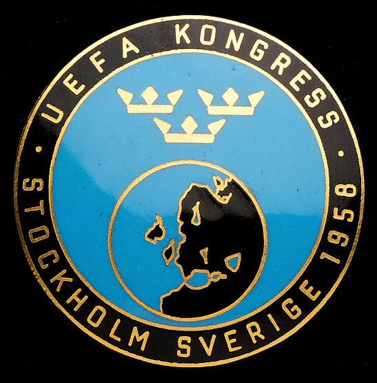 UEFA badge for the Congress held in Stockholm in conjunction with the