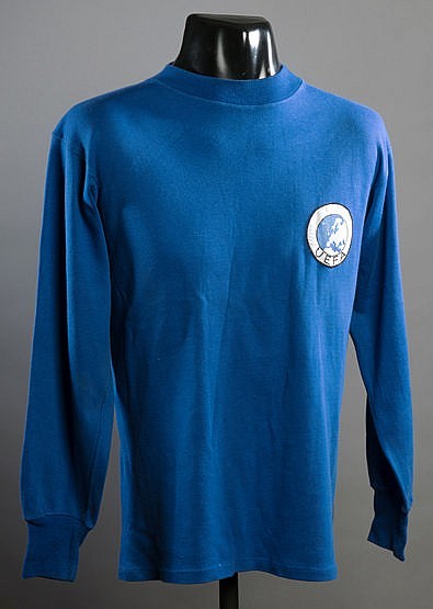 A blue France No.11 jersey from the 1967 UEFA U-18 Championship semi-f