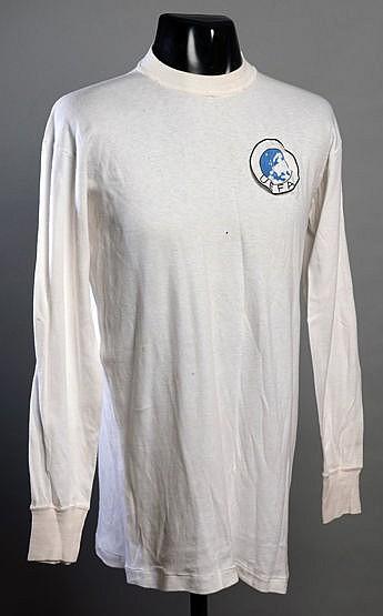 Alun Evans white England No.8 1967 UEFA U-18 Championship jersey,  lon