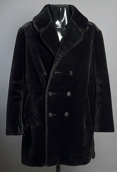 A men's faux-fur coat purchased at the George Best Boutique in Bridge