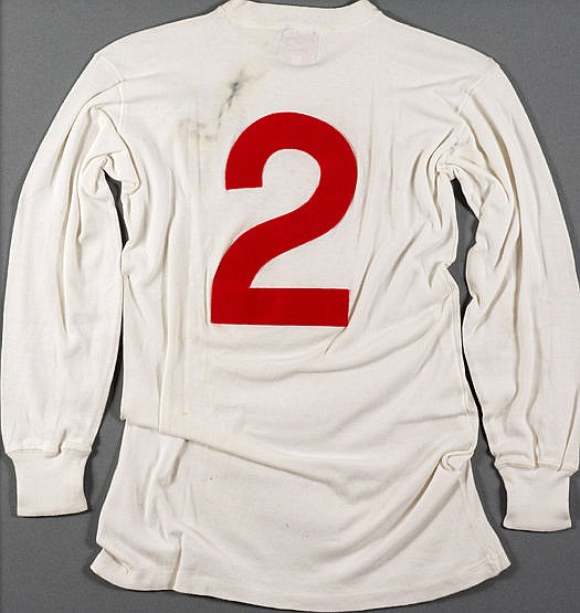 George Cohen's white England No.2 jersey worn in the World Cup semi-fi