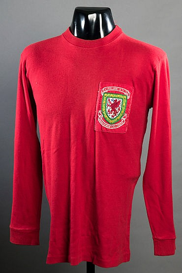 Gil Reece: a red Wales No.16 substitute's jersey season 1971-72,  long