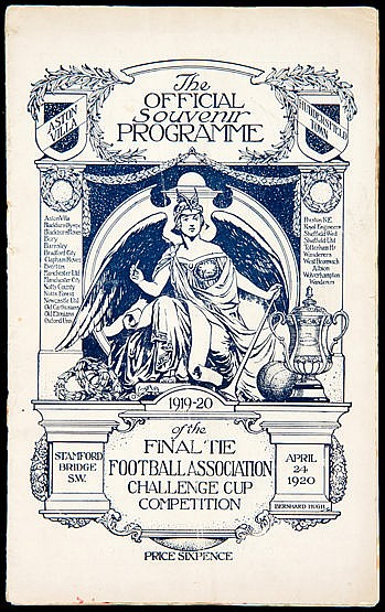 F.A. Cup Final programme Aston Villa v Huddersfield Town played at Sta