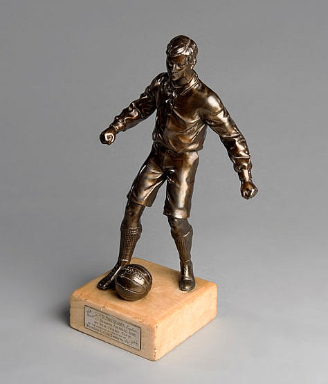 Trophy presented to the Rangers footballer David Meiklejohn in Toronto
