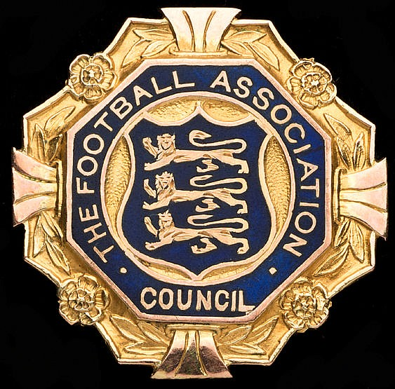 9ct. gold & enamel Football Association Councillor's badge issued to S