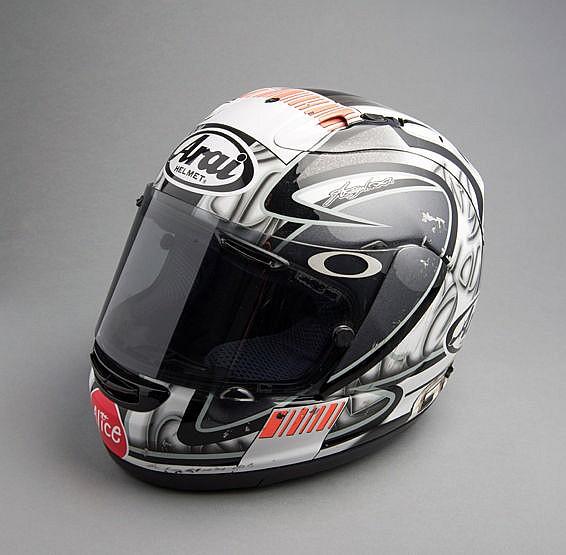 Sete Gibernau 2006 Ducati MotoGP team Arai race helmet,   featuring a