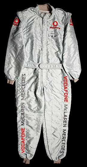 Jenson Button Vodafone McLaren Mercedes presentation race suit from a
