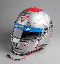 Mario Andretti signed helmet worn in preliminaries staged before the 2