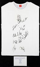 T-shirt signed by race winner Dario Franchitti & nine other 2002 Rocki