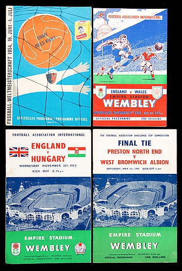 A collection of football programmes dating from the 1950s & 1960s,  in