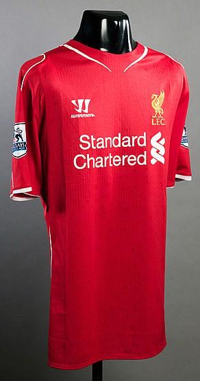 Steven Gerrard: a red Liverpool No.8 jersey season 2014-15, short-sle