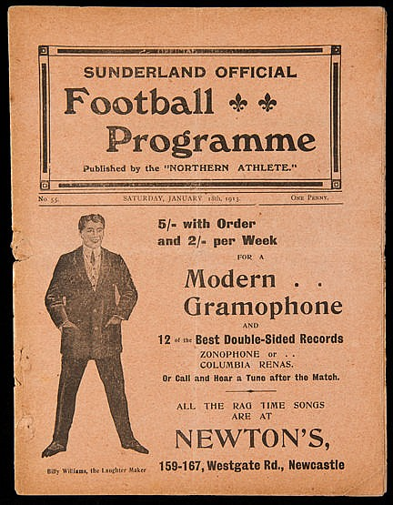 Scarce pre-First World War Sunderland programme v Oldham Athletic 18th