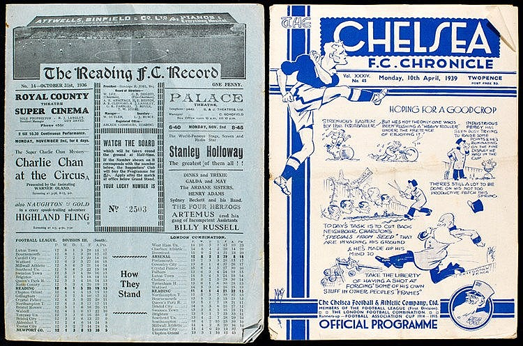 Reading v Newport County programme 31st October 1936,  sold together w