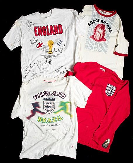 England football memorabilia,  comprising: a Bobby Moore