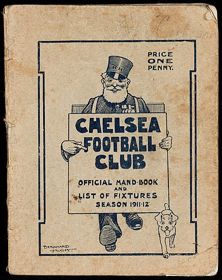 Chelsea Football Club handbook season 1911-12, reasonably good condit