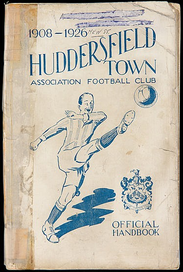 Huddersfield Town Official Handbook 1908-1926,  over 100 pages, the fo