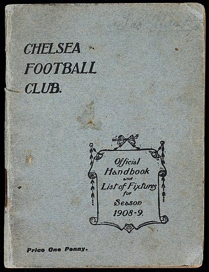Chelsea Football Club handbook season 1908-09,  good condition Provena
