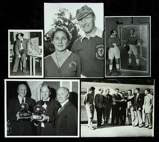 Collection of press photographs mostly relating to Wally Barnes of Ars