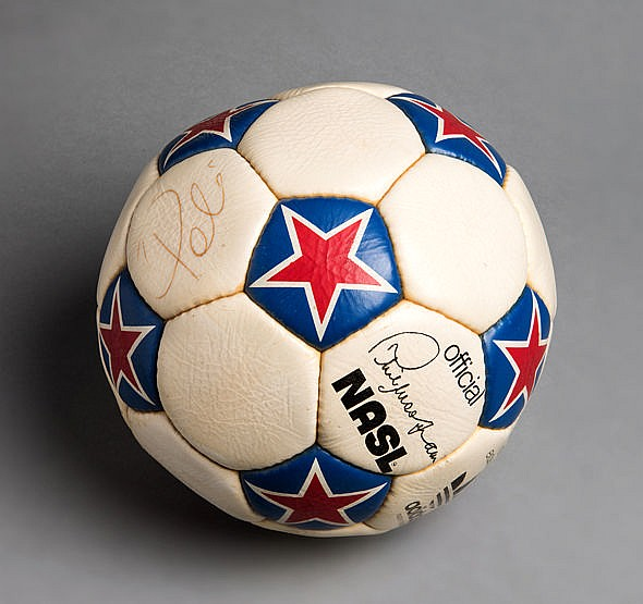 Pele hat-trick match ball from the Cosmos v Fort Lauderdale Strikers m