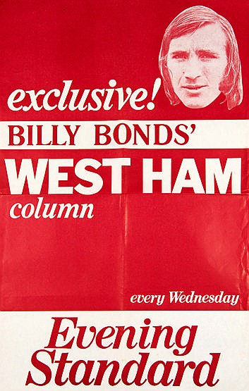 1970s London Evening Standard news-stand poster promoting the paper's