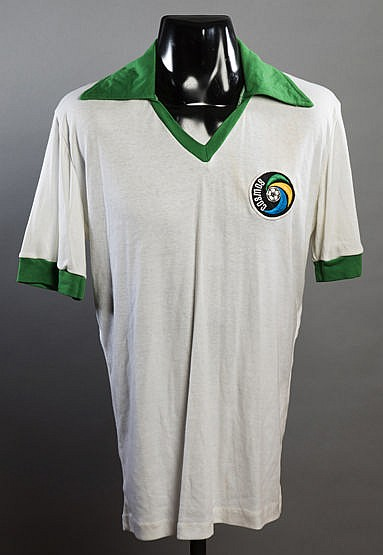 Carlos Alberto Cosmos No.25 daily practice shirt worn during the 1977
