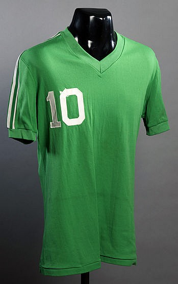 Pele's Cosmos daily practice shirt worn during the 1977 Championship s