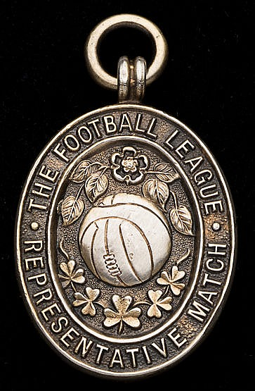 Roy Hartle Football League representative medal 1958-59,  inscribed TH