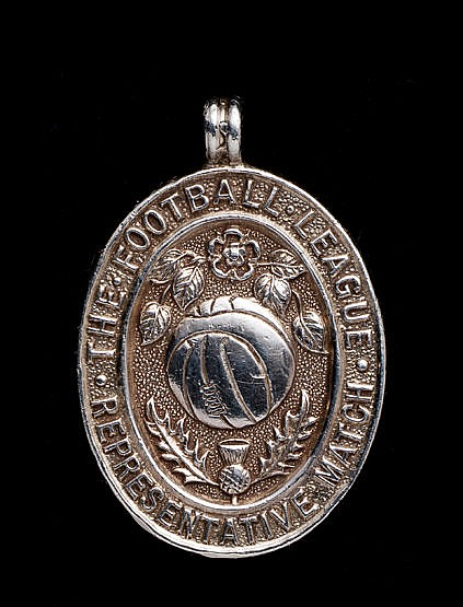 A silver Football League representative medal awarded to the West Ham