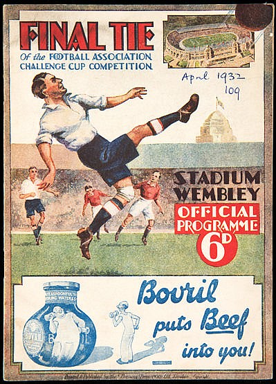 F.A. Cup Final programme Arsenal v Newcastle United 23rd April 1932,