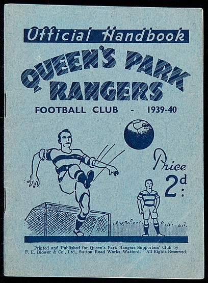 Queen's Park Rangers handbook from the abandoned 1939-40 football seas