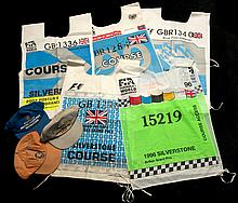 Seven Formula 1 British Grand Prix marshal's tabards,  Yellow Flag for