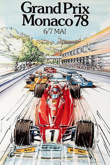 Three Monaco and one Italian Grand Prix original F1 official FIA poste