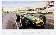 Jack Brabham and Ron Tauranac signed limited edition print and period
