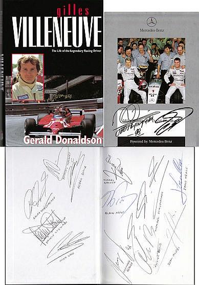 Michael Schumacher, Mika Hakkinen, Alain Prost, Jackie Stewart and oth