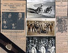 Arthur Atkinson 1930s Australian and British speedway memorabilia,   a