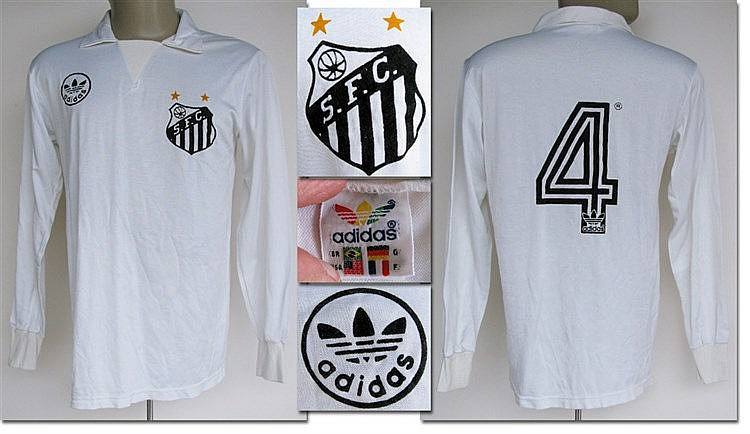 FC Santos (Brazil) No.4 jersey worn in a friendly match against Boruss