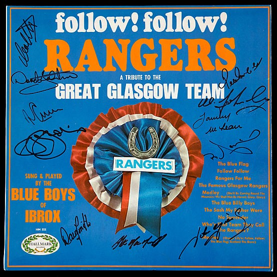 Signed LP record 'Follow! Follow! Rangers-a tribute to the Great Glasg
