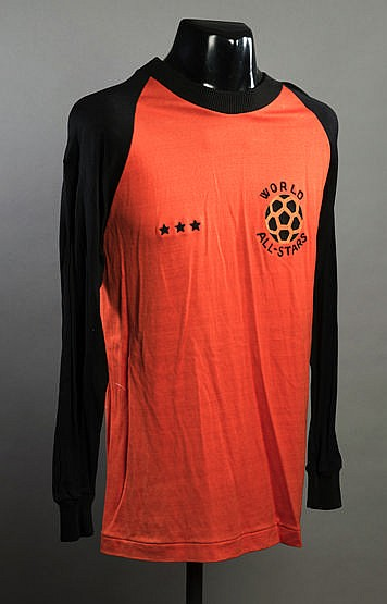 Hector Baley match-worn goalkeeping jersey unusually numbered 0 (zero)