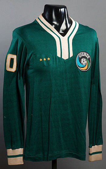 Green version of the Cosmos No.30 jersey prepared for Johan Cruyff for