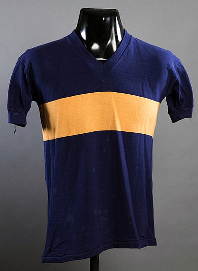 A blue & gold Boca Juniors No.12 substitute's jersey from the match v