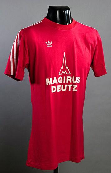 Bernd Durnberger red Bayern Munich No.7 jersey from the match v New Yo