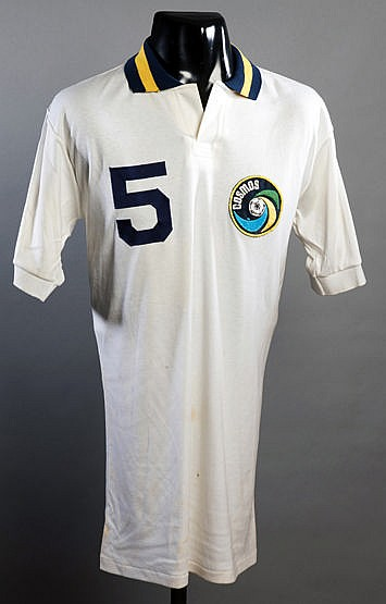 Carlos Alberto match-worn New York Cosmos No.5 jersey from the match v