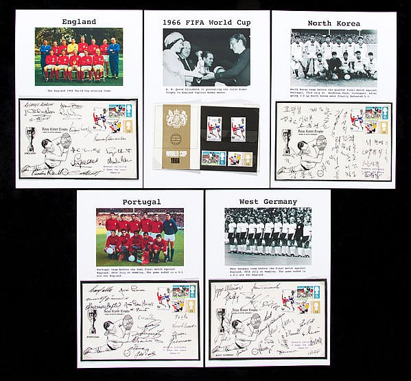 An exceptional collection of 1966 World Cup autographs in the form of