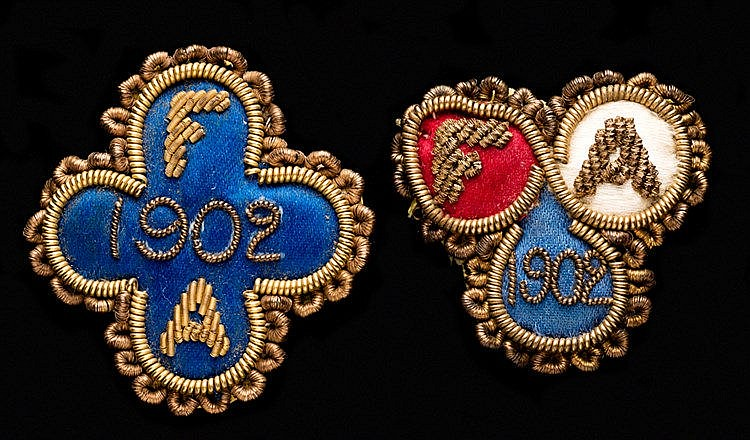 A pair of Football Association Councillor's badges for the Sheffield U