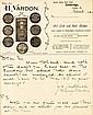 A signed Harry Vardon manuscript letter, dated