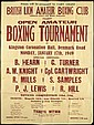 A small archive of boxing ephemera relating to